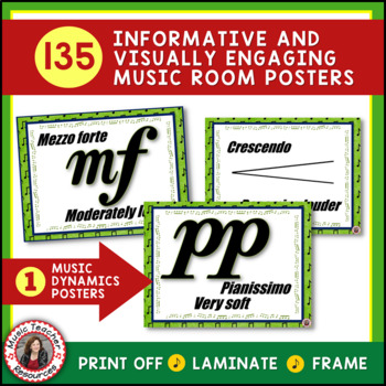 Music Classroom Decor Kit: SAVINGS BUNDLE Set 2: Music Vocabulary Posters