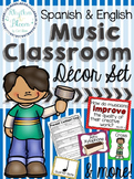 Spanish & English Music Classroom Decor Set
