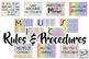 Music Classroom Decor Set: Rainbow Patterns BUNDLE