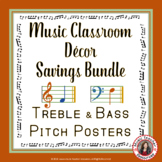 Music Classroom Decor: Treble and Bass Pitch Posters