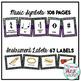 Music Classroom Decorations (BUNDLE): Purple, Teal, Green & Blue Patterns