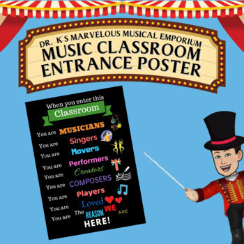 Music Classroom Entrance Poster