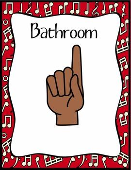 Music Classroom Hand Signals
