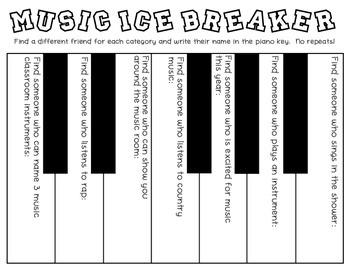 Music Classroom Ice Breaker