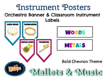 Music Classroom Instrument Posters