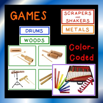 Music Classroom Instruments, Posters, Games, Lesson Plans