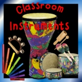 Elementary Music Classroom Instruments - Posters, Games, L