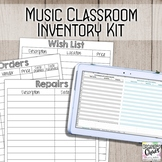 Music Classroom Inventory Kit (fully editable)