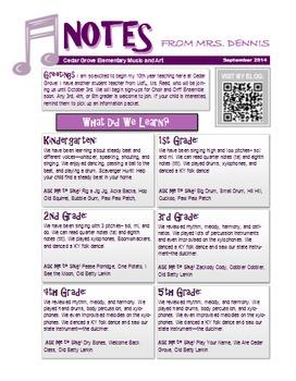 Music Classroom Newsletter Template