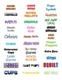 Music Classroom Organization Labels