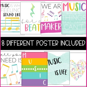 Music Classroom Posters - 5 Minute Bulletin Board!