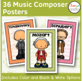 Music Classroom Posters   Famous Music Composers