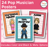Music Classroom Posters | Pop Musicians