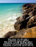Music Classroom Posters:  Set of 12 Inspirational/Motivational Posters