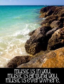 Music Classroom Posters:  Set of 12 Inspirational/Motivati