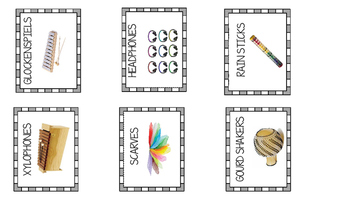 Music Classroom Printable Labels with Pictures