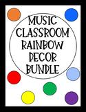 Music Classroom Rainbow Decor Set