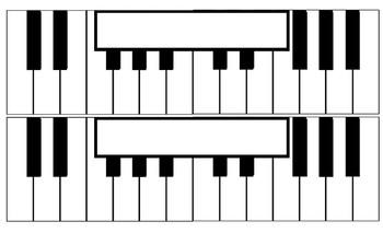 Music Classroom Reward Keyboard