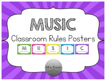 Music Classroom Rules - Starburst
