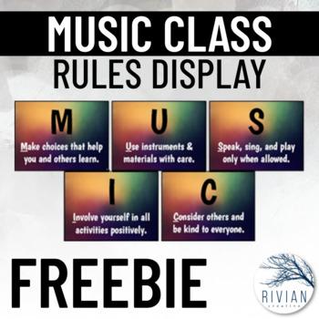Music Classroom Rules Display