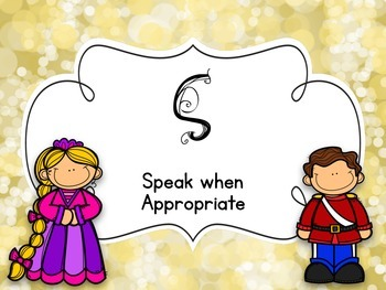 Music Classroom Rules - Fairy Tale Theme