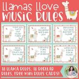 Music Classroom Rules: Llamas Llove Music Rules! {Music Class Decor}