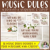 Music Classroom Rules: Magnolias and Shiplap {Music Class Decor}