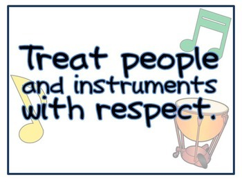 Music Classroom Rules Posters