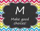 Music Classroom Rules - Rainbow Chevron Chalkboard Design