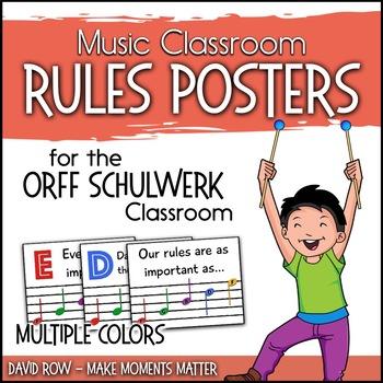 Music Classroom Rules are as Easy as EGBDF!