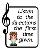 Music Classroom Rules for Elementary Schools 7 pages for Bulletin Board