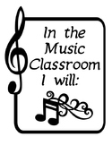 Music Classroom Rules for Elementary Schools 7 pages for B