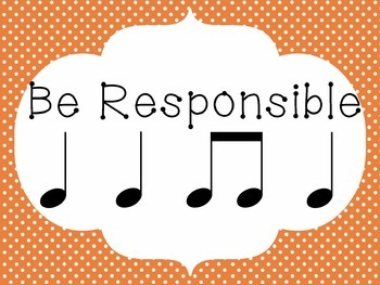 Music Classroom Rules w/Notation