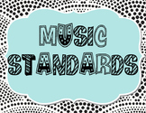 Music Classroom Standards Keywords Signs