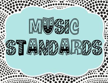 Music Classroom Standards Keywords Signs