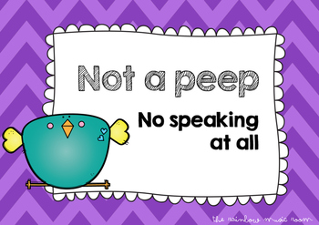 Music Classroom Voices Posters - Chirpy Birds