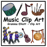 Music Clip Art - Color and Black Line