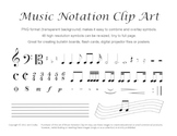 Music Clip Art - 48 Common Notation Symbols