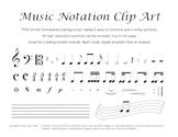 Music Clip Art - 48 Common Notation Symbols