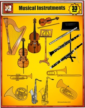 Music Clip Art Featuring Musical Instruments from Charlotte's Clips