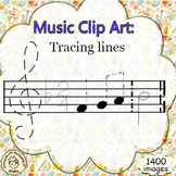 Music Clip Art: Tracing lines.
