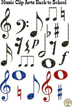 Music Clip Arts: Back to School.