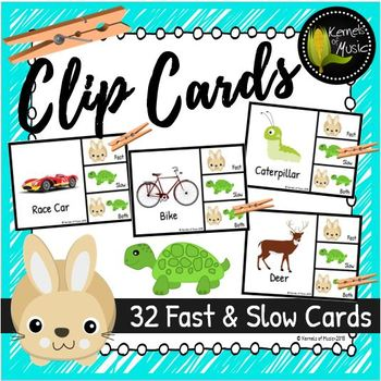 Music Clip Cards- Fast & Slow