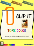 Music Clip Cards: Tone Color: Instruments (Grades 2 & Up)