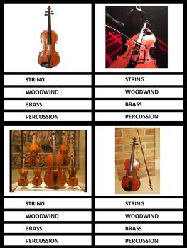 Music Clip Cards: Tone Color: Instruments (Grades 2 & Up)