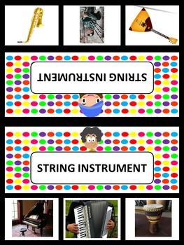 Music Clip Cards: Tone Color: Instruments (K-2)