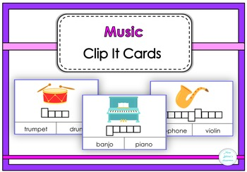 Music Clip It  Cards