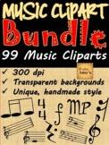 Music Clip Art Bundle: 99 music symbols