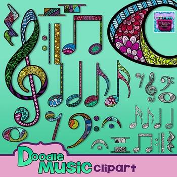 Music Doodle Clipart