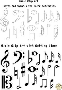 Music Cliparts for music teachers bundle